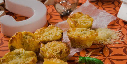 Muffin de champion y jamon setas de curva