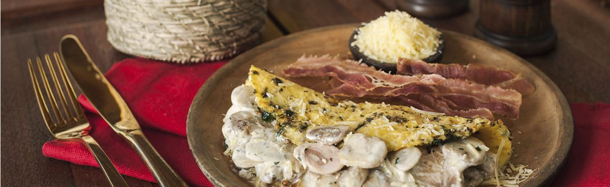 Omelette de championes a la griega setas de curva