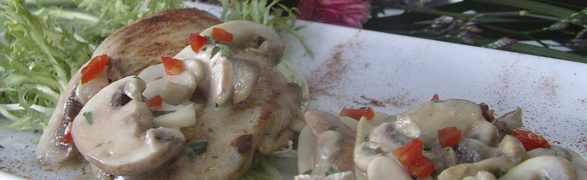 Pollo al champinion setas de curva