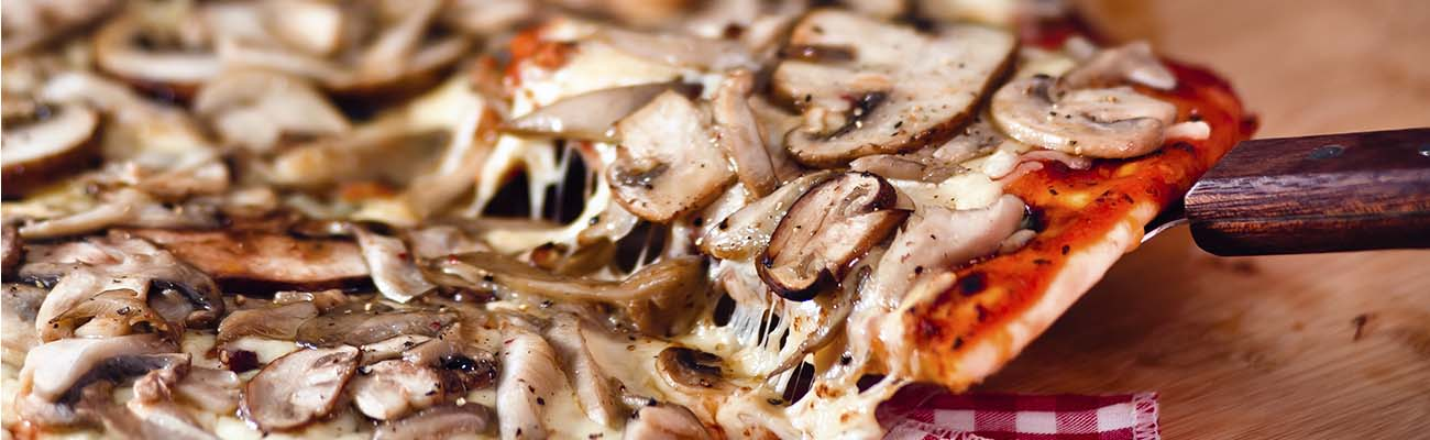 Banner pizzas de setas