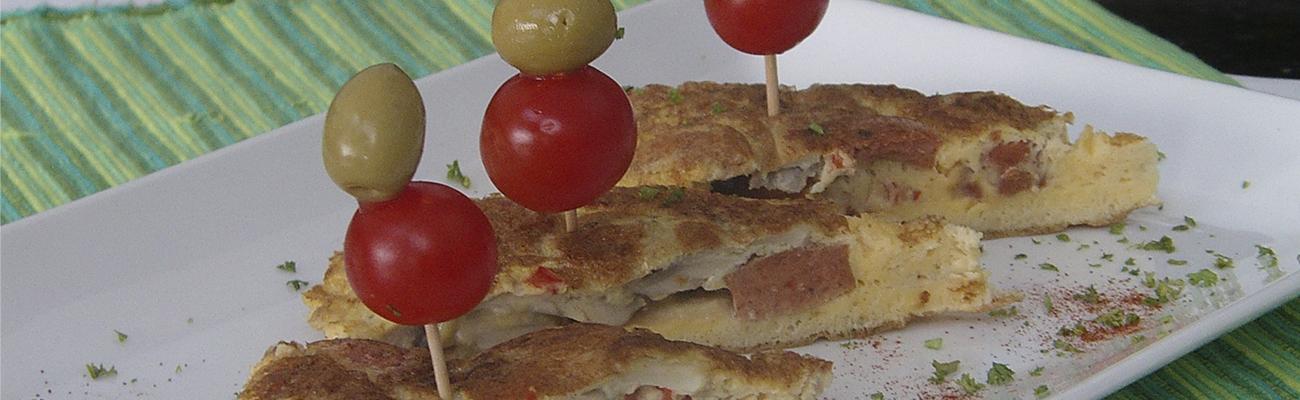 Banner tortillas de championes y jamon